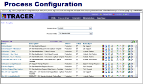 tracer process configuration manager it service management