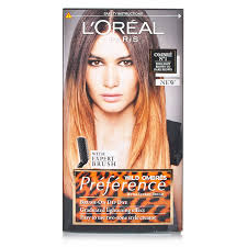 How To Dye Hair Two Colors Amazon Com L U0027oreal Preference Wild Ombres Dip Dye Hair Kit No 1
