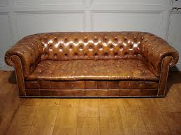 Antique Chesterfield Sofas by Sold Antique 3 Seater Light Brown Leather Chesterfield Antique