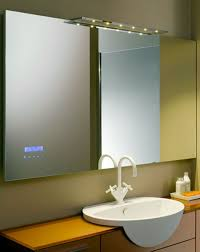 bathroom vanity mirror ideas elegant white finish varnished wooden