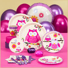 partybell com owl blossom baby shower standard pack