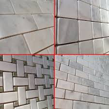 Bathroom Tile Ideas White Carrara by Bathroom Tile Design Ideas White Basketweave White Carrara