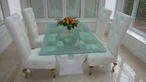 All Glass Dining Room Table Glass Dining Table With Custom Edge Work By Sans Soucie Glass