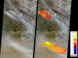 Alberta Wildfire Satellite Images by Space Images Large Smoke Plumes From Alberta Canada Fires