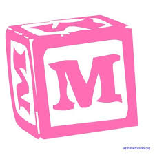 block letter alphabets in pink alphabet blocks org
