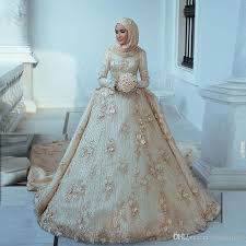 cheap designer wedding dresses 2018 arabic islamic muslim a line wedding dresses said mhamad lace