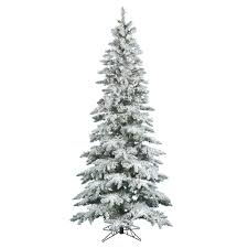 6 5 ft warm white pre lit flocked slim utica fir artificial