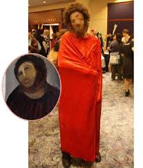 Halloween Costumes Monkey Botched Restoration Jesus 1 Halloween Costume