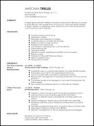 Example Summary For Resume Of Entry Level by Free Entry Level Insurance Claims Adjuster Resume Template Resumenow