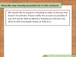 lawyer approved advice on how to write a breach of contract letter
