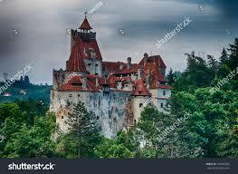 hdr image medieval bran castle romania stock photo 107887505