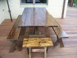 amazing indoor picnic bench part 2 view in gallery trestle