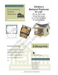 Porch Blueprints Free Playhouse Plans Blueprints Construction Drawings Pdf Download