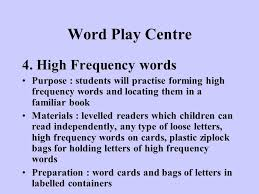 literacy centres for the early years classroom 1 to 3 ppt download