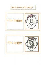 esl kids worksheets how do you feel today