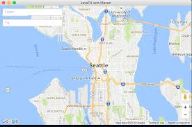 Washington Ferry Map Mapping Directions With Javafx Using The Gmapsfx Directions Api
