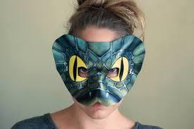 snake leather mask halloween mask masquerade mask