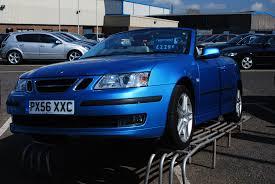saab convertible blue file saab 9 3 aero cabrio jpg wikimedia commons