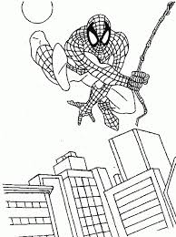 free spiderman coloring pages print 415112