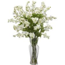 Floral Arrangements For Dining Room Tables Home Decoration Tall White Artificial Floral Arrangements