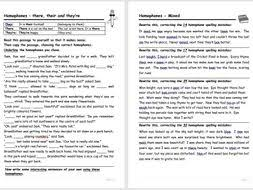 homophones worksheets by bas0410 teaching resources tes