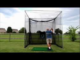 golf cage by cimarron practice golf net diy frame kit youtube
