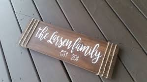 last name wood sign family wood sign wood signs home decor