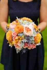 wedding flowers queanbeyan grey navy and orange wedding navy orange and grey bridal bouquet