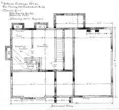 eight room cottage no 22 for geo w vanderbilt basement plan