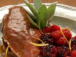 duck in cuisine duck breast with berry sauce recipe robert irvine food