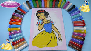 Disney Snow White Sand Painting Learn Colors