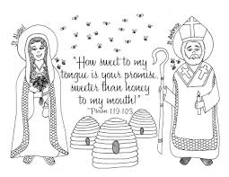 look to him and be radiant st ambrose and st abigail coloring pages