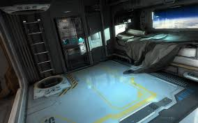 spaceship bedroom ambience relaxing in the sleeping quarters