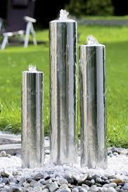 fontaine murale en zinc fontaine jardin inox design tubes seliger spécialiste des