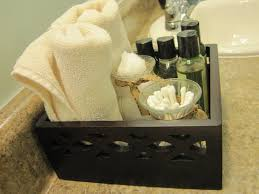 toiletries for guest bathroom in small basket we bring home the