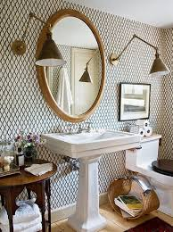 bathroom with wallpaper ideas wallpaper bathroom ideas home interiors