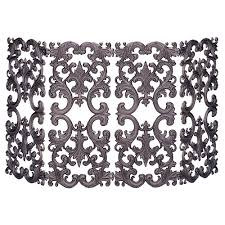 uniflame 4 panel bronze cast aluminum fireplace screen s 5804
