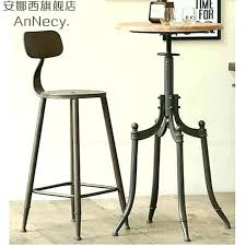 wood and wrought iron table wrought iron bar table recycled wood and wrought iron bar table for