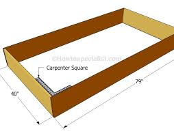 bed amazing how to make a twin bed frame we make a seriously