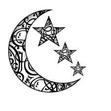 uncolored moon and stars tattoo design photos pictures and