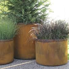 Extra Large Planters by Outdoor Planter Large Planters Steel Cor Ten