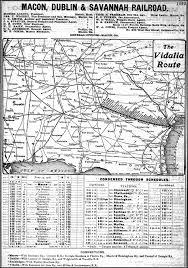 Savannah Map Macon Dublin U0026 Savannah Railroad 1908 Map And Timetable