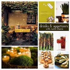 ideas for outside fall party cocktail party with rustic charm