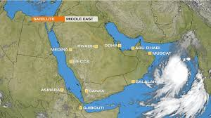 middle east map gulf of oman tropical cyclone heads towards the middle east news al jazeera