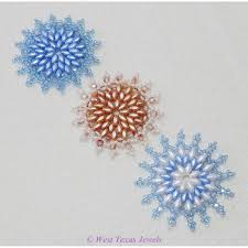 snowflake 8 beaded ornament pattern west jewels