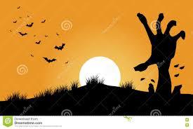 hand zombie and bat halloween backgrounds stock vector image