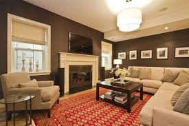 chocolate brown wall color and beige ceiling paint color for