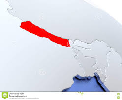 Nepal On Map Nepal Political Map Stock Vector Image 74458072