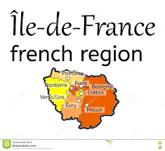 France Regions Map by Ile De France French Region Map Illustration 80394667 Megapixl
