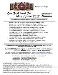 5 hr class online new archery classes for summer 2017 at archery excellence